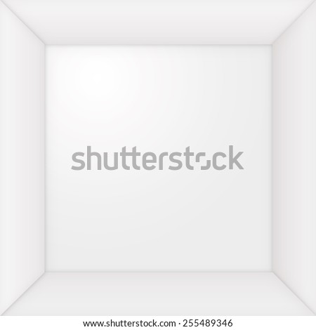 empty picture frame with borders, square, white with shadows,
