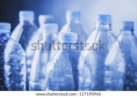 empty plastic bottles - stock photo