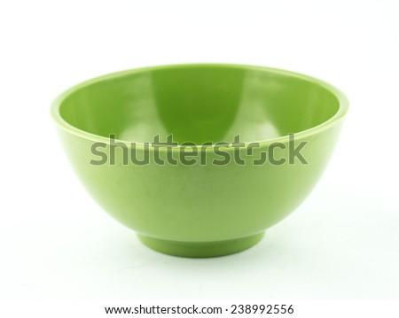 Empty plastic, ceramics bowl. - stock photo