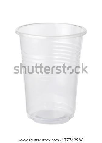 Empty plastic cup - stock photo