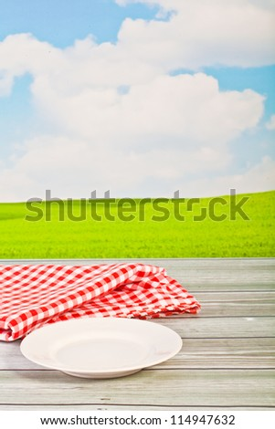 empty plate - stock photo