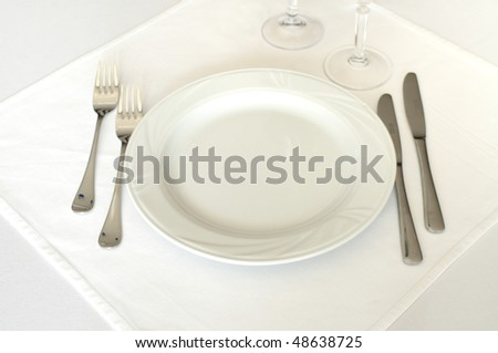 Empty plate in a restaurant