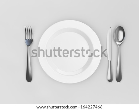 Empty plate template
