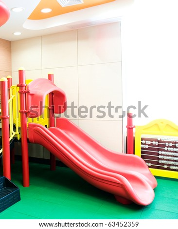 empty playground in a restaurant for children. - stock photo