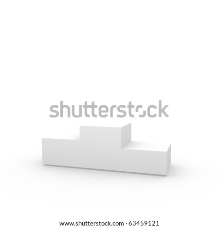 Empty Podium - stock photo