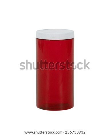 Empty prescription medical pill bottle - stock photo