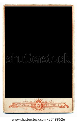 Empty printed frame for next design. - stock photo