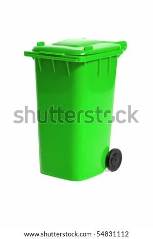 empty recycling bin - stock photo