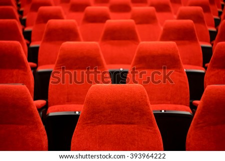 Empty Red Chairs Theater