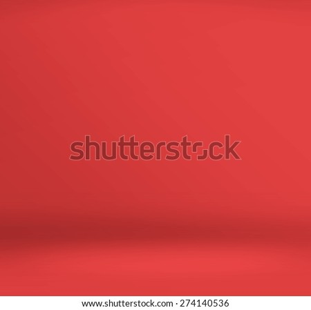 Empty red studio room background ,Template mock up for display of product,Business backdrop - stock photo