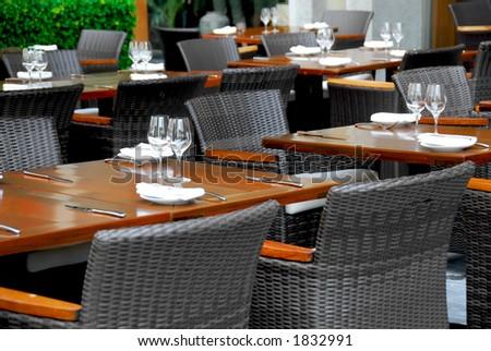 Empty restaurant - stock photo