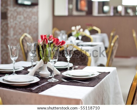 Empty Restaurant - stock photo