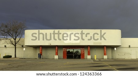 Empty retail store as a result of the economic recession. - stock photo