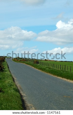 Empty road - stock photo