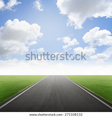 Empty road conceptual. You can put your object here - stock photo