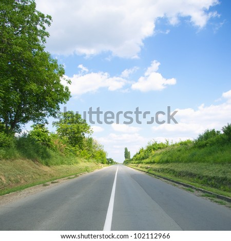 Empty road on sunny day