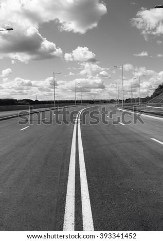 Empty road street - stock photo