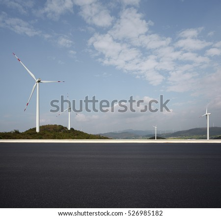 Empty road surface floor with 