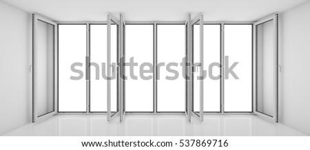 opened blank window frame stock photo 168342605 shutterstock. Black Bedroom Furniture Sets. Home Design Ideas
