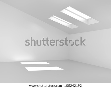 empty room and three-dimensional - stock photo