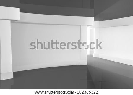 Empty Room bitmap copy - stock photo
