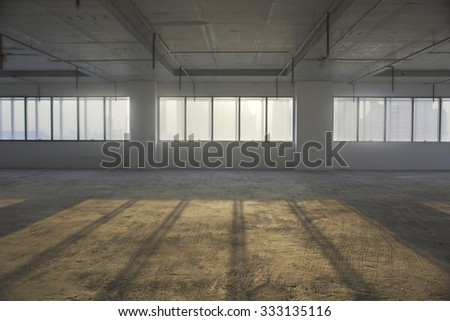 Empty room in a building