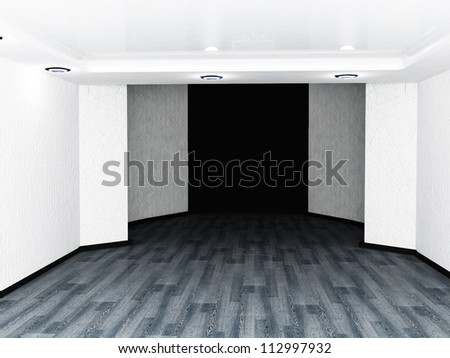 empty room in black and white colors