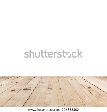 empty room interior and wood floor with space - stock photo