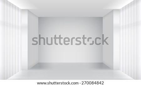 Empty room interior. Clear building, apartment white, architecture inside - stock photo