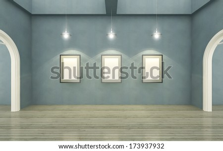 Empty room,Interior,Windows,Blank poster,Vintage