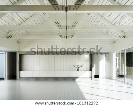 Empty room of business, or residence - stock photo