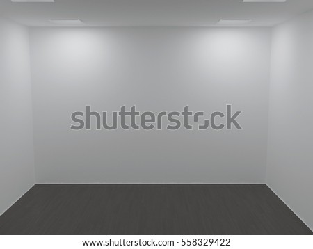 empty  room with the lamps, 3d rendering