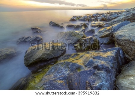 stock-photo-empty-sea-and-rocks-during-t