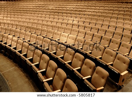 Empty seats in a performing arts theater - stock photo