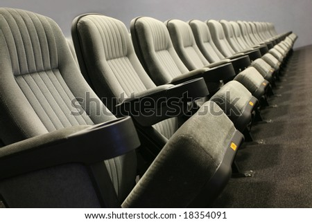 Empty seats in a row (cinema, theatre, conference, concert) - stock photo