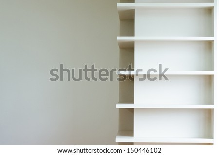 Empty shelf for exhibit - stock photo