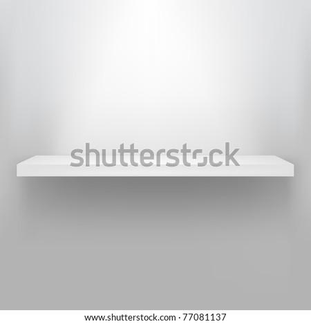 Empty Shelf For Exhibit - stock photo