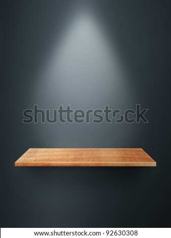 Empty shelf on wall - stock photo