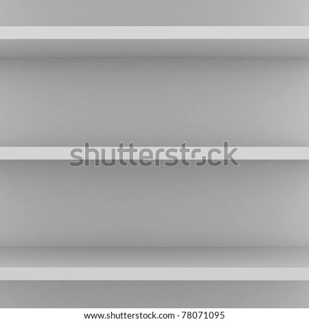 empty shelves - stock photo