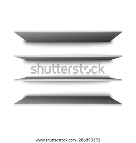 Empty shelves for presentation - stock photo