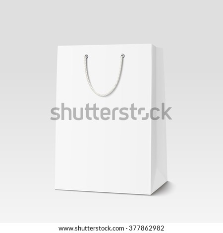 Empty Shopping Bag for advertising and branding. Rasterized Copy