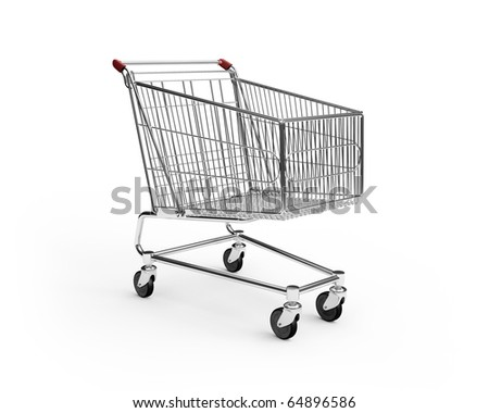 empty shopping cart - stock photo