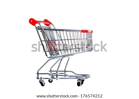 empty shopping trolley - stock photo