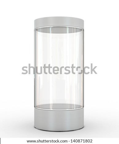 empty showcase - stock photo