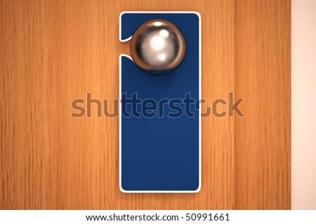 Empty sign on a door knob - stock photo