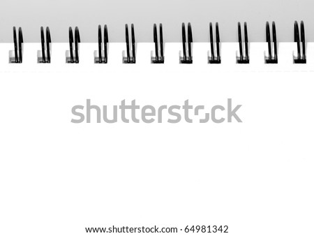 empty sketchbook with room for your text or photo - stock photo