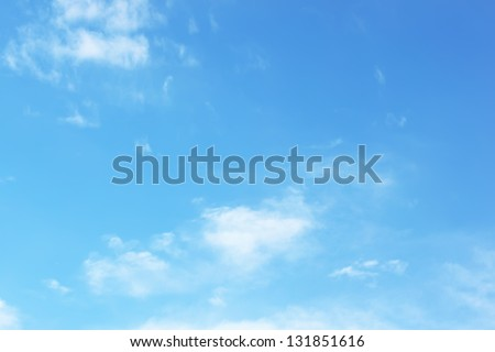 Empty sky surface - stock photo