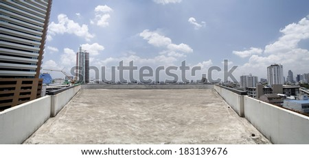 empty space on top building - stock photo