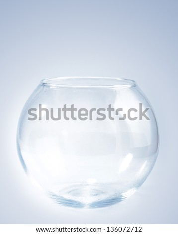 empty spherical aquarium - stock photo
