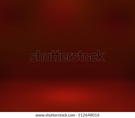 Empty Spotlight Red Room Background - stock photo